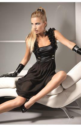 lingerie intimates secret in black nightdress
